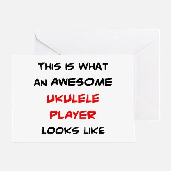 awesome ukulele player Greeting Card