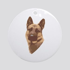 German Shepard Ornament (Round)