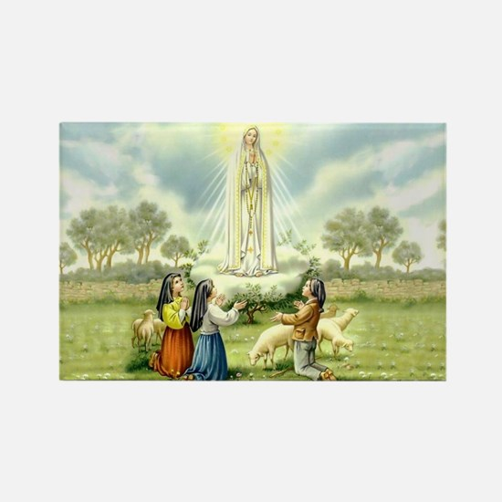 Our Lady of Fatima Rectangle Magnet