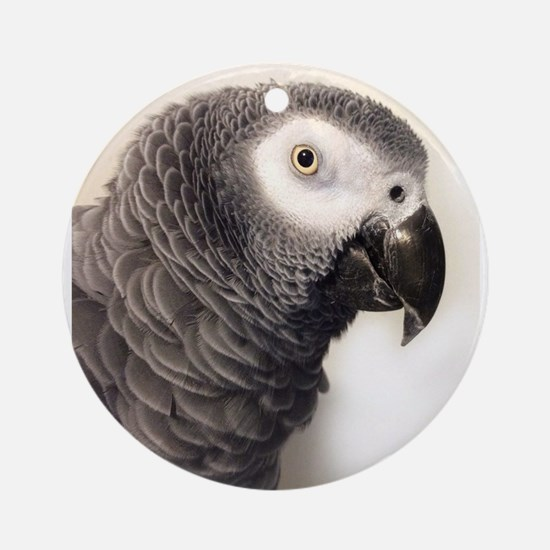 Cute African grey parrot Round Ornament