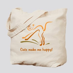 Cats Make Me Happy Tote Bag