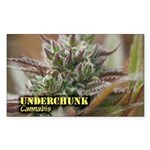 Underchunk (with name) Sticker (Rectangle)
