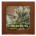 Underchunk (with name) Framed Tile