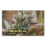 Underchunk (with name) Sticker (Rectangle 10 pk)