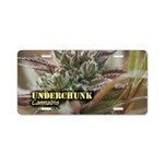 Underchunk (with name) Aluminum License Plate