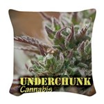 Underchunk (with name) Woven Throw Pillow