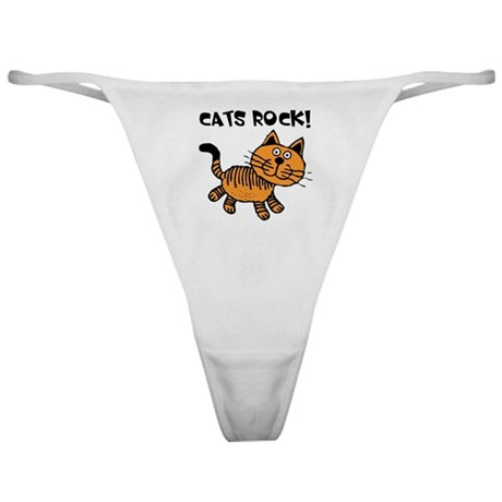 Cats Make Me Happy Classic Thong
