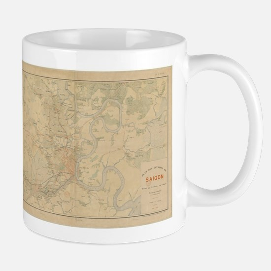 Saigon Old Map Mugs