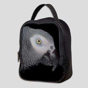 African Grey Parrot Neoprene Lunch Bag