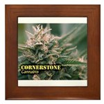 Cornerstone (with name) Framed Tile