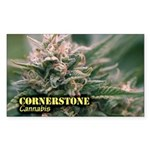 Cornerstone (with name) Sticker (Rectangle 50 pk)