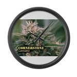 Cornerstone (with name) Large Wall Clock