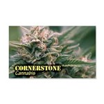 Cornerstone (with name) 20x12 Wall Decal