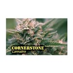 Cornerstone (with name) 35x21 Wall Decal