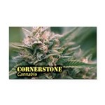 Cornerstone (with name) Rectangle Car Magnet