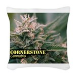 Cornerstone (with name) Woven Throw Pillow