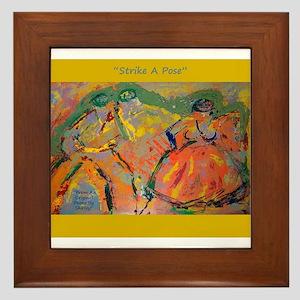 Art-Modern-Abstract-Dance-Gold-Green-Strike A Pose