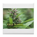 White Russian (with name) Tile Coaster