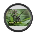 White Russian (with name) Large Wall Clock