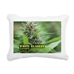 White Russian (with name Rectangular Canvas Pillow