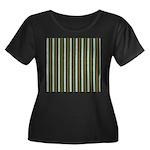 Green Pattern 002 Women's Plus Size Scoop Neck Dar
