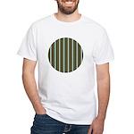 Green Pattern 002 White T-Shirt