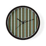 Green Pattern 002 Wall Clock