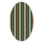 Green Pattern 002 Oval Sticker