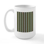 Green Pattern 002 Large Mug