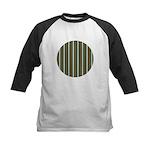 Green Pattern 002 Kids Baseball Jersey