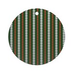 Green Pattern 002 Ornament (Round)