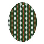 Green Pattern 002 Oval Ornament
