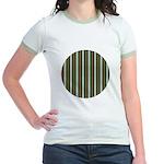Green Pattern 002 Jr. Ringer T-Shirt