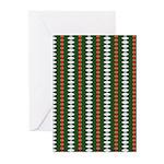Green Pattern 002 Greeting Cards (Pk of 10)