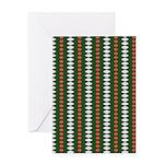 Green Pattern 002 Greeting Card