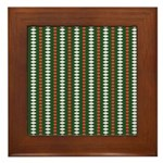 Green Pattern 002 Framed Tile