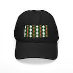 Green Pattern 002 Black Cap
