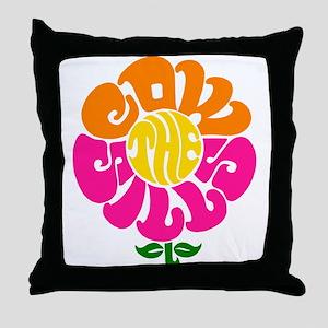Cowsills Flower Logo Throw Pillow