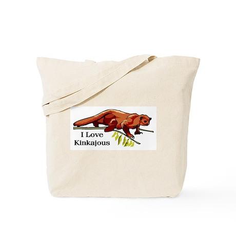 I Love Kinkajous Tote Bag