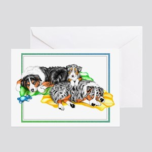 Aussie Family Nap Greeting Card