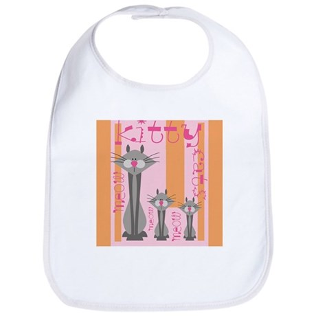 Retro Kitties Bib