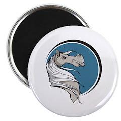 Grey Stallion Circle Design Magnet