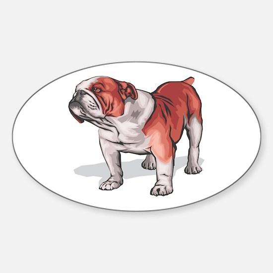 English Bulldog Oval Decal