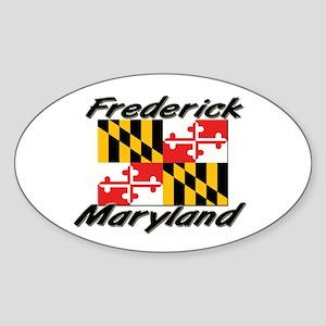 Frederick Maryland Oval Sticker
