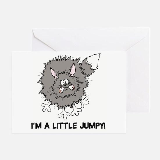 Jumpy Cat Greeting Card