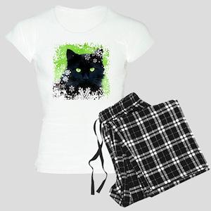 BLACK CAT & SNOWFLAKES Women's Light Pajamas