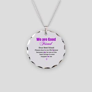 Good Friend Necklace Circle Charm