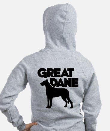 GREAT DANE (both sides) Zip Hoodie