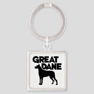 GREAT DANE Square Keychain