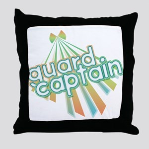 Retro Guard Captain Throw Pillow